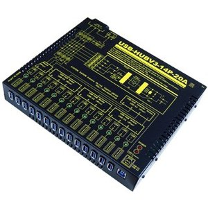 USB-HUBV3-14P-20A 業務用大容量14ポートUSBHUB(USB3.0)(AC90-260V仕様)(1ポート2A/合計16A)|systemsacom