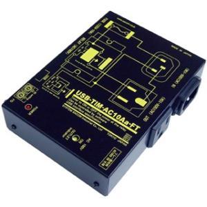 USB-TIM-AC10Aa-FT USB AC電源 ON/OFF ユニット[アクティブON メイク(A)接点仕様]|systemsacom