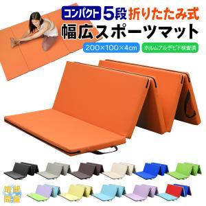 体操 マット ヨガ トレーニング 5段 折りたたみ 200×100×4cm