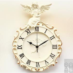 2020新作 掛け時計 北欧 おしゃれ かわいい 音がしない ギフト 掛時計 入学祝い 玄関 インテリア時計 ホワイト 天使 振り子 ロマンティック 子供/[aba48]|syu