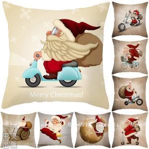 クリスマス 飾り クッションカバー 45×45 北欧 冬 クッション 抱き枕 カバー|syu