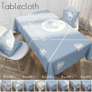 クリスマス 飾り テーブルクロス 北欧 撥水 ビニール 布 正方形 白 長方形|syu