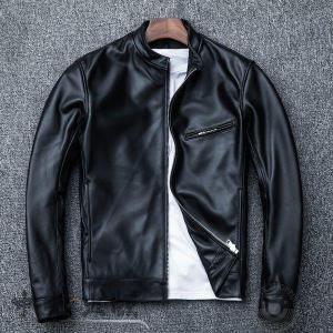 革ジャン レザージャケット メンズ 本革 バイク ライダース 羊革 シングル ショート スリムタイプ 細身  ジャケット ミリタリー レザーコート|syu