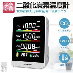 「2021新入荷」二酸化炭素濃度計 CO2センサー 二酸化炭素計測器 CO2マネージャー co2濃度計 空気質検知器 温度計 湿度 三密 換気 濃度測定 USB充電|syu