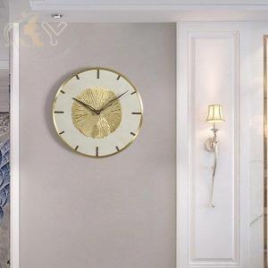 掛け時計 音がしない ギフト 掛時計 入学祝い 玄関 インテリア時計 ゴールド シルバー リーフ イチョウ 子供 北欧 おしゃれ かわいい syu