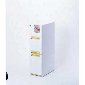 【送料無料】サンコープラスチック/オーラスリム 3段収納コロ付き ホワイト|syufunomikata