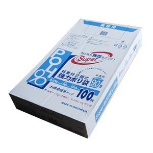 【G-94H】業務用 ごみ袋 90リットル ゴミ袋 厚手 半透明 ポリ袋 90L BOXタイプ 200枚(100枚×2パック)【送料無料】