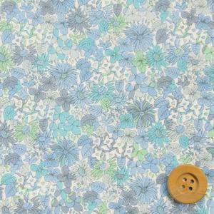 リバティプリント タナローン生地『Pebble ペブル』ブルー(サンドウ限定復刻色/10-3630152・B)