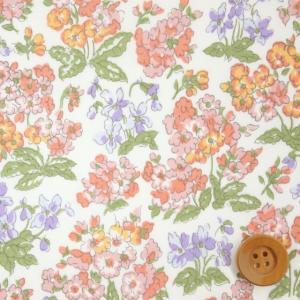 リバティプリント タナローン621『Emerline エマーライン』ピンク&オレンジ(90-3330...