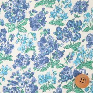 リバティプリント タナローン621『Emerline エマーライン』ブルー&ライトブルー(90-33...
