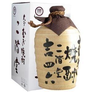 二階堂 吉四六陶器 麦焼酎 25度 1800ml|syuho