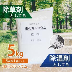 除雪用 塩化カルシウム 5kg 粒状 [塩カル えんかる 雪かき 凍結防止剤 融雪剤 除雪機 家庭用 あすつく]|syumicolle