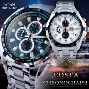 腕時計 クロノグラフ メンズ デザインウォッチ COSTA ビジネス カジュアル あすつ syumicolle