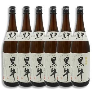 御年賀 お年賀 ギフト 日本酒 黒牛 純米酒 1800ml 6本セット 送料無料 和歌山県 名手酒造店|syurakushop
