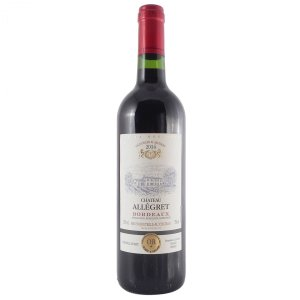 バレンタイン ギフト プレゼント ワイン シャトー・アレグレ ルージュ 赤 750ml (フランス/赤ワイン)|syurakushop