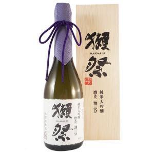 獺祭 純米大吟醸 磨き二割三分 木箱入り 720ml (山口県/旭酒造/日本酒)