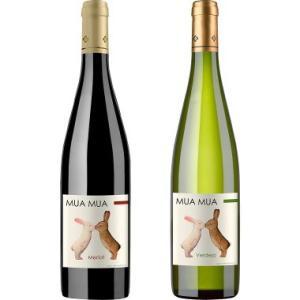 ホワイトデー ギフト プレゼント   ワインセット ムアムア ブランコ ティント うさぎのラベルが可愛いワイン 赤白2本セット 750ml スペイン 赤ワイン 白ワイン|syurakushop