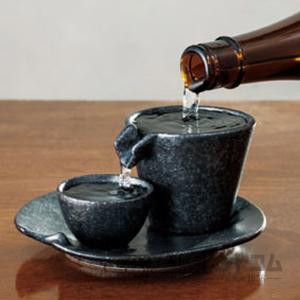 しずる冷酒器セット 銀黒(1セット)|syurui-net