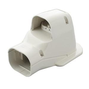 因幡電工 配管化粧カバー ウォールコーナー 換気エアコン用 壁面取り出し用 アイボリー SWK-77N-I|syuunounavi