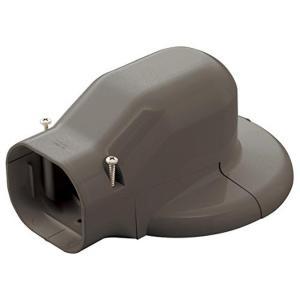 因幡電工 配管化粧カバー ウォールコーナーエアコンキャップ用 壁面取り出し ブラウン LDWM-70-B|syuunounavi