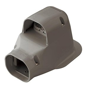 因幡電工 配管化粧カバー ウォールコーナー 換気エアコン用 壁面取り出し ブラウン LDWK-70S-B|syuunounavi