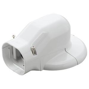 因幡電工 配管化粧カバー ウォールコーナーエアコンキャップ用 壁面取り出し ホワイト LDWM-70-W|syuunounavi
