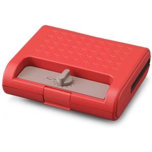 アイリスオーヤマ ホットサンドメーカー ワッフル ホットサンド 焼き型2種 耳まで焼ける 電気 ワイド ダブル 2枚 IMS-902-R レッド 赤|syuunounavi