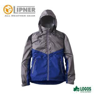 ○LIPNER リプナー リフレクターウインドジャケット チャック ブルー 3078215 防水防寒ウェア メンズ|szone