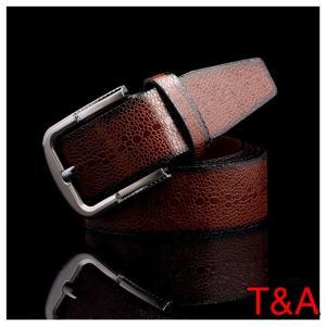 ベルト クロコダイル 革 本格 レザーベルト バックル ダークブラウン 4 メンズ カジュアル ビジネス シンプル スーツ 紳士 サイズ調節可能 |t-a