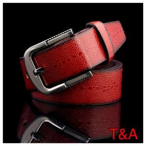 ベルト クロコダイル 革 本格 レザーベルト バックル ワインブラウン 4 メンズ カジュアル ビジネス シンプル スーツ 紳士 サイズ調節可能 |t-a