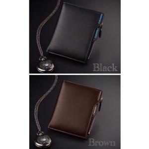 財布 二つ折り財布 コンパクト メンズ お札入れ 小銭入れ カードケース フォトフレーム付き ウォレット 1 黒色 ブラック 茶色 ブラウン 2color|t-a