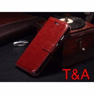iPhone6 iPhone 6S iPhone 手帳型レザーケース+強化保護フィルム 茶色 2 収納 オシャレ スマホカバー 携帯ケース  ブラウン|t-a
