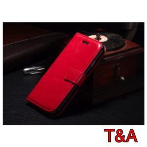 iPhone6 iPhone 6S  iPhone 手帳型レザーケース+強化保護フィルム 赤色 収納 2 オシャレ スマホカバー 携帯ケース レッド|t-a