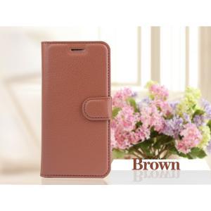 iPhone6 iPhone 6S 手帳型レザーケース+強化保護フィルム付き 茶 収納 1 オシャレ スマホカバー 携帯ケース  ブラウン|t-a