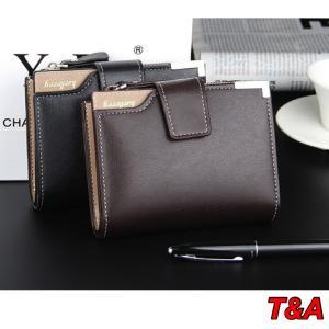 財布 二つ折り財布レザー  札入れ 小銭入れ カード入れ おしゃれ ジップ  メンズ ビジネス 名刺入れ コンパクト 2Color|t-a
