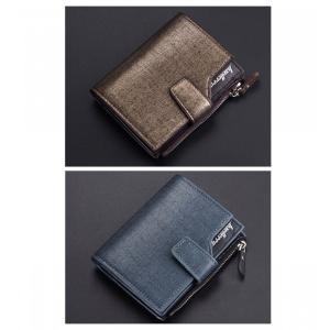 財布 二つ折り レザー 札入れ 小銭入れ カード入れ ジップファスナー 6 メンズ ビジネス 名刺入れ コンパクト ネイビー ゴールド 2Color|t-a