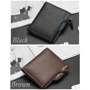 財布 二つ折り財布 レザー コンパクト メンズ お札入れ 小銭入れ カードケース フォトフレーム付き ウォレット 黒色 ブラック 茶色 ブラウン 2color|t-a