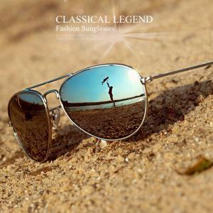 ティアドロップ  サングラス シルバー サングラス おしゃれ フレーム ミラーレンズ   UV400 紫外線カット 日焼け対策 メンズレディース 銀 男女兼用
