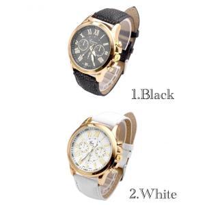 腕時計 メンズ  高品質 レザー 革 ベルト ビジネス ウォッチ 軽量 オシャレ ギリシャ文字 時計 金 人気ブランド ゴールド ホワイト|t-a