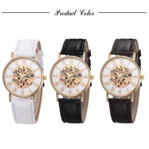 腕時計 メンズ 高品質 レザー 革 ベルト ビ...の詳細画像1