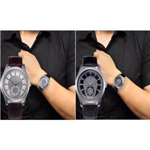 腕時計 メンズ  高品質 レザー 革 ベルト ビジネス ステンレス ウォッチ 軽量 オシャレ ダイヤル 時計  人気ブランド ブラック ブラウン2Color|t-a