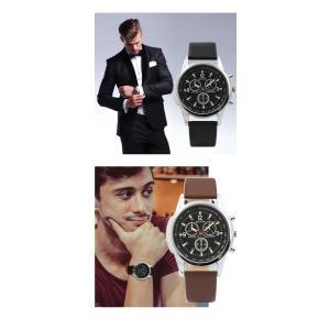 腕時計 メンズ クォーツ腕時計 高品質 ゴムベルト ファッション時計 ビジネス ウォッチ ブラック ブラウン 人気 ブランド |t-a