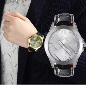 腕時計 ギリシャ文字 時計 アナログ メンズ クォーツ レザーベルト ファッション時計 ウォッチ シルバー ブラック|t-a