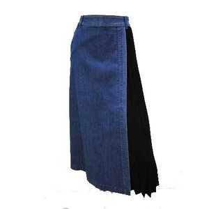 BLUE FRONCE / プリーツ使いデニムスカート|t-blueberry