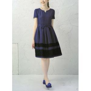 ギャラリービスコンティ /【LAST CLEARANCE 】リボン&レース飾り ワンピース エレガントワンピース|t-blueberry