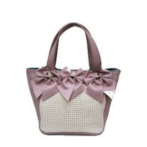 ギャラリー ビスコンティ / グログランリボン&ジルコン飾りバッグ|t-blueberry