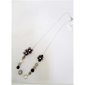 ギャラリービスコンティ/【在庫処分】フラワーモチーフ飾りネックレス|t-blueberry
