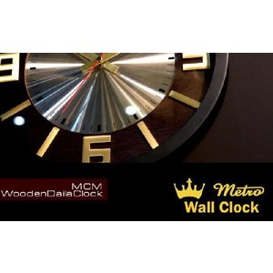 WCL014 MCM WOODEN DIAL CLOCK|t-bravo