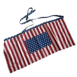 USAフラッグ エプロン/メール便可 /前掛けカントリーカフェCaffe国旗 アメリカン雑貨 t-bravo