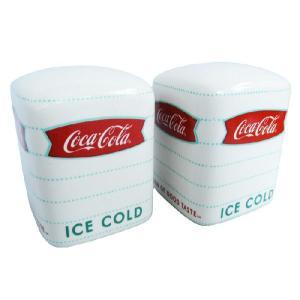 コカコーラソルト&ペッパーセット スクエア/塩コショウ調味料入れシンプルギフト|t-bravo